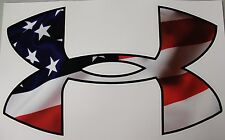 """Under Armour American USA Flag Car/Window Decals Stickers - 11.5"""" x 7.0"""""""