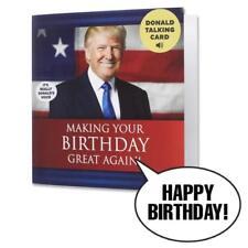 Trump Birthday Card Talking Us President Wish Happy Birthday His Real Voice Gift