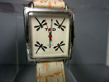 New Orange Dragonfly Square Watch 4 Dragonflies in Dial Dragon Fly
