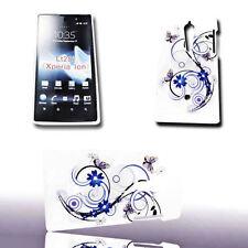 Design No.2 Back Cover Handy Case Hülle für Sony Xperia Ion + Displayschutzfolie