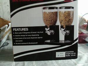 Double Cereal Dispenser White