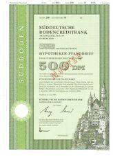 Süddeutsche Bodencreditbank  München 500DM  1990  Südboden