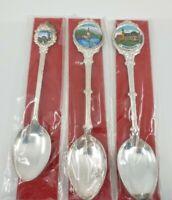 Vintage Wieskirche Wies German Silver Souvenir Collector Spoons (3 Total)