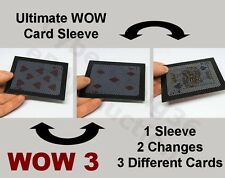 ULTIMATE WOW 3 CARDS 2 CHANGES 1 CARD SLEEVE VANISH APPEAR NEW MAGIC TRICK PROP