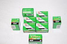 9x film analogico FILM Fujifilm Supreme 1600 36 4th color scomparto layer a3