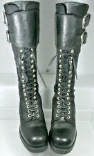 KRIS' Vintage Buckle Lace Up Boots Women US 6