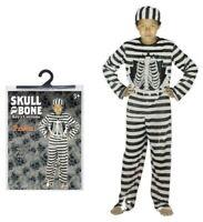 Disfraz de Halloween Disfraz Esqueleto Prisionero Niños Pequeño Mediano Grande