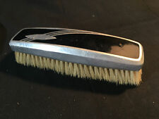 Collectible Art Deco Clothing Bristle Brush Silver Tone and Black Made In USA