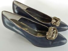 Vintage Rosina Ferragamo Schiavone Leather Pumps Women's Shoes Size 8 M