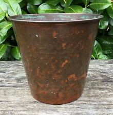 """Old Vintage Retro Rippled Effect Copper Plant Pot Approx 5"""" Tall 5.5"""" Wide"""