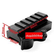 "New QD 3/5"" Riser Rifle Scope Mount Adapter fit 20mm Picatinny Rail Base"