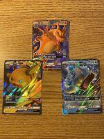 Pokemon Hidden Fates Tin Promo Card Lot: Charizard GX, Gyarados GX, Raichu GX 🔥