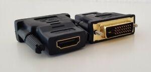 DVI auf HDMI Adapter Buchse auf Stecker vergoldet Full HD Ready Neu Blitzversand