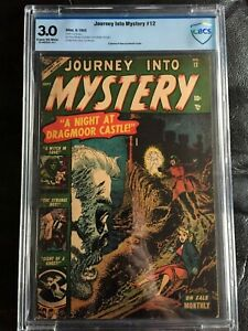 JOURNEY INTO MYSTERY #12 CBCS GD/VG 3.0; CM-OW; Briefer art (9/53)! rare!