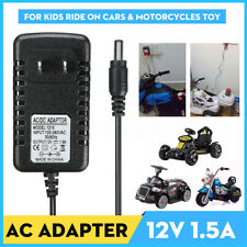 12V 1A Battery Charger Adapter For Kids ATV Quad Ride On Cars Motorcycle AC/DC