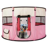 """45"""" Pet Portable Play Pen Exercise Tent Dog Soft Playpen Cat Fold Crate Puppy"""