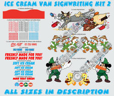 ice cream van signwriting kit, kit 2 re style your van with our ready to go kits