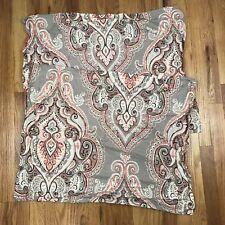 Coral & Gray Mandala Boho Pillow Shams Pair Nanette Lepore AB