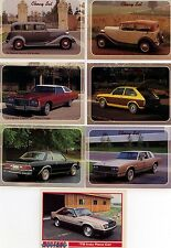 THE HEARTBEAT OF AMERICA  KONVOLUT 7 TRADING CARDS US CARS - COLLECT A CARD 1993