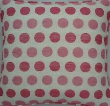 A 16 Inch Cushion Cover In Laura Ashley Toby Spot Pink Fabric
