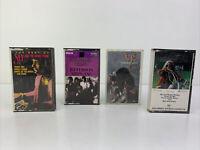 Lot of 4 Vintage Cassette Tapes - Janis Joplin, Jefferson Airplane, SRV, Sly