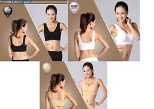 Bamboo Eco Organic Shaper Crop Sports Yoga Bra Vest Odor Free Lingerie UK