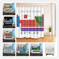 Periodic table of the chemical elements shower curtain 3e3 ebay periodic table of elements polyester fabric shower curtain 12hooks 180180cm urtaz Image collections