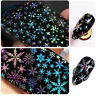 Snowflake Christmas Holographic Nail Foils Nail Art Transfer Stickers Decals DIY