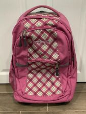 JanSport Rolling Wheeled Travel Book Bag School Luggage Carry On Pink
