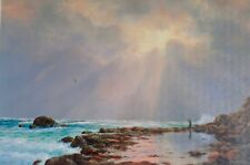 Kevin Best, The Local Spot, Rock Fishing, Superb Seascape Art.