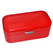 Schöner Brotkasten rot Emaille Vintage Emailliert Brot Box