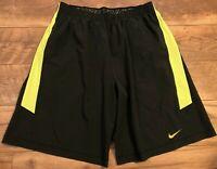 NIKE driFIT Pro Training Black Neon Athletic crossFIT Workout Shorts mens XL