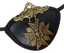 Gold Medallion Gothic Steampunk Pirate Buccaneer Fantasy Fashion Eye Patch