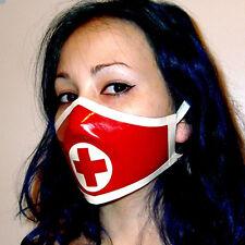 Latex Nurse Masks with Cross Trim Rubber Party Masks Gummi 0.4mm Unique New