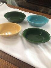 4 Vintage Colored Genuine Oven Serve Ware Oval Dishes Homer Laughlin Casseroles