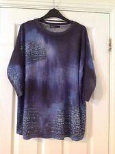 Karen Millen woman's jumper top blue size 1 8 small
