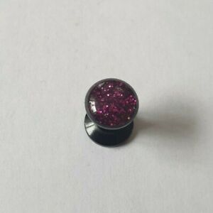 Plastic Ear Plug Screw Cheater Flesh Tunnel SpiderMan Shiny Violet Men Women