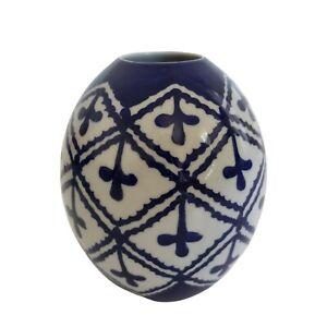 Ballard Designs Blue & White Ceramic Vase