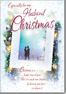 Especially For My Husband Christmas Card Lovely Verse CH8018