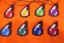 Lot 8 MINECRAFT Inspired HEALING POTION Birthday Party Favors Necklaces Creeper