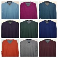Men`s New John Rocha Designer Pure Cotton V-Neck Jumper Sizes S to 4XL Sweater