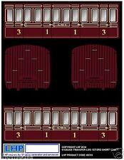 HORNBY O GAUGE 7MM LMS 4 WHEEL COACH REFURBISHMENT CONVERSION TRANSFER LHP HD701
