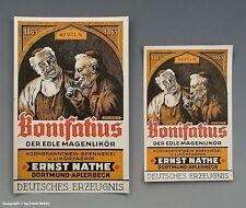 Etiketten MAGENLIKÖR Bonifatius/Dortmund um 1925
