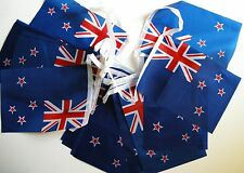 Super Flag of New Zealand Fabric Bunting 18ft / 5.5m 20 Flags