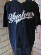 Mens True Fan YANKEES Poly Baseball Jersey Shirt Shirts XL