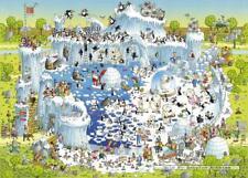 1000 pcs jigsaw puzzle: Degano - Funky Zoo - Polar Habitat  (Cartoon, Animals)