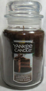 Yankee Candle Large Jar Candle 110-150 hrs 22 oz CHOCOLATE LAYER CAKE Food/Spice