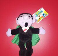 "Vintage Tyco Sesame Street Beans The Count Bean Bag Stuffed Plush 8"" 1997"