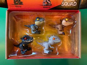 Jurassic World Snap Squad Indoraptor Blue Velociraptor Indominus 4 Dinosaur Set