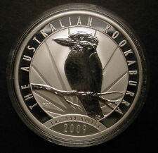 2009 Australia Silver Kookaburra BU Coin 1 oz BU - low mintage